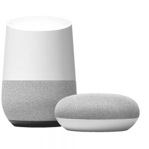 Google Home speakers for home automation control
